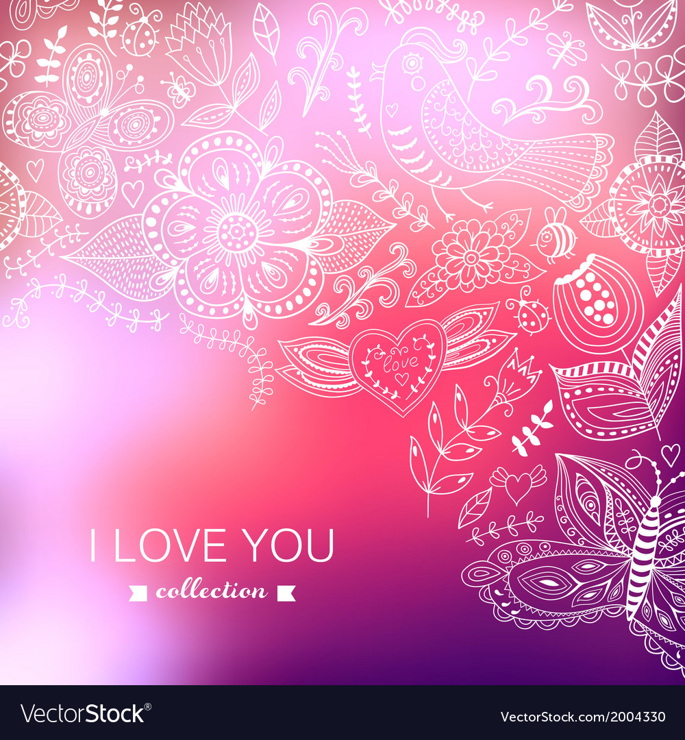 Valentines day background blurred template holiday vector | Price: 1 Credit (USD $1)
