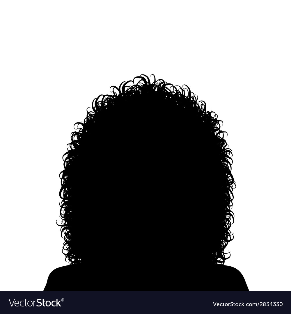 Woman with curly hair vector | Price: 1 Credit (USD $1)