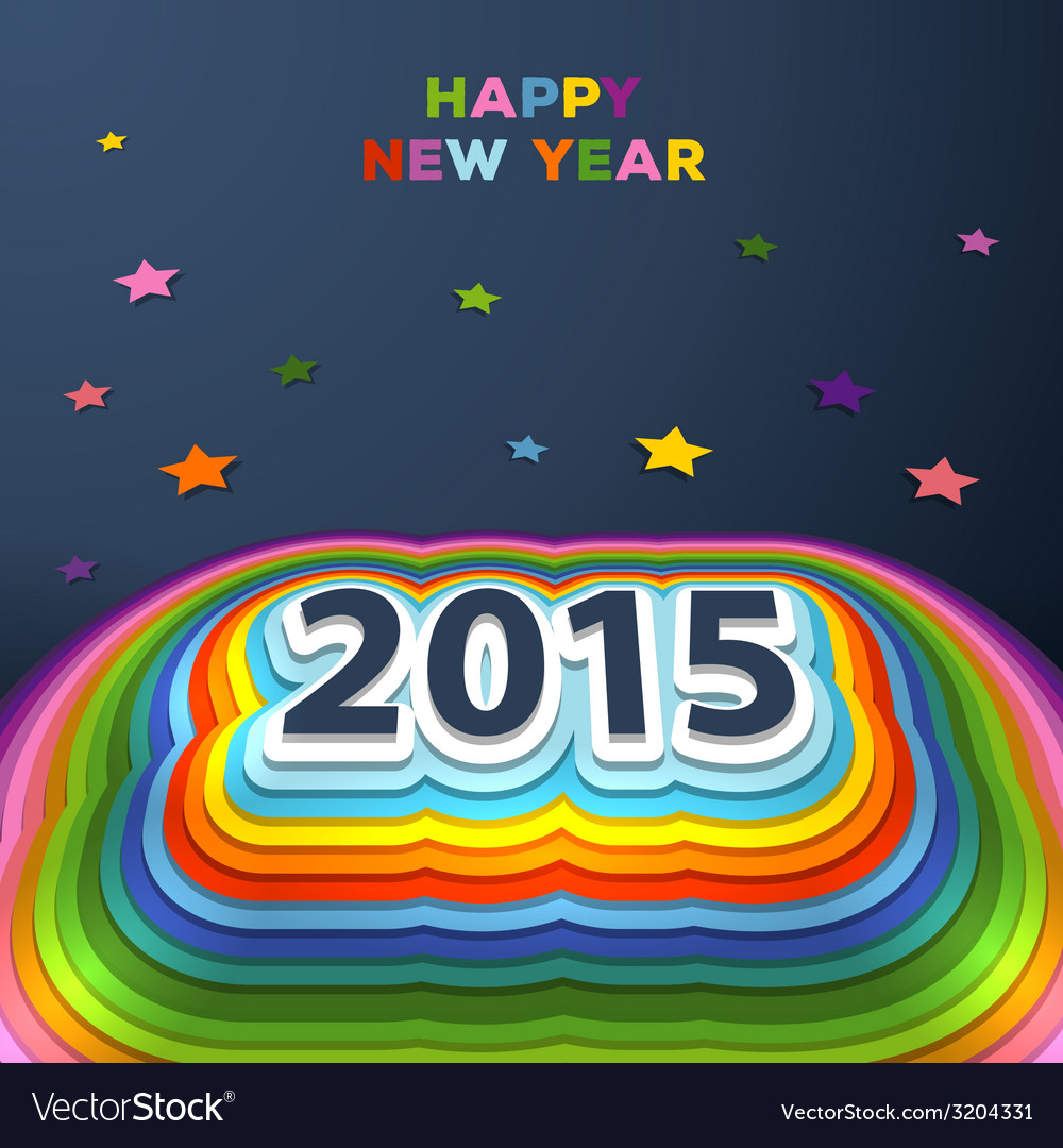 2015 colorful paper decor vector | Price: 1 Credit (USD $1)