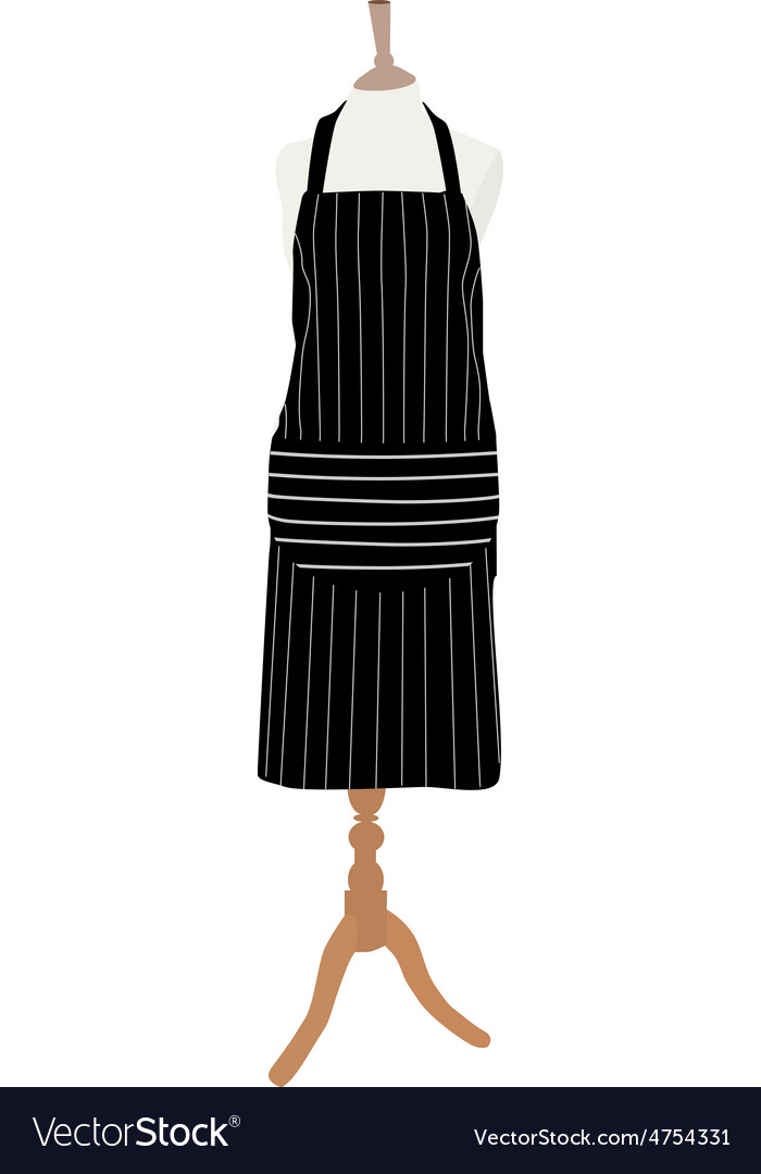 Apron on mannequin vector | Price: 1 Credit (USD $1)
