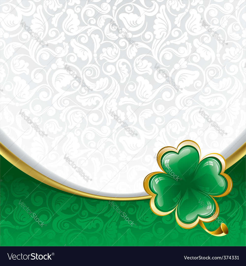 Background to st patricks day vector