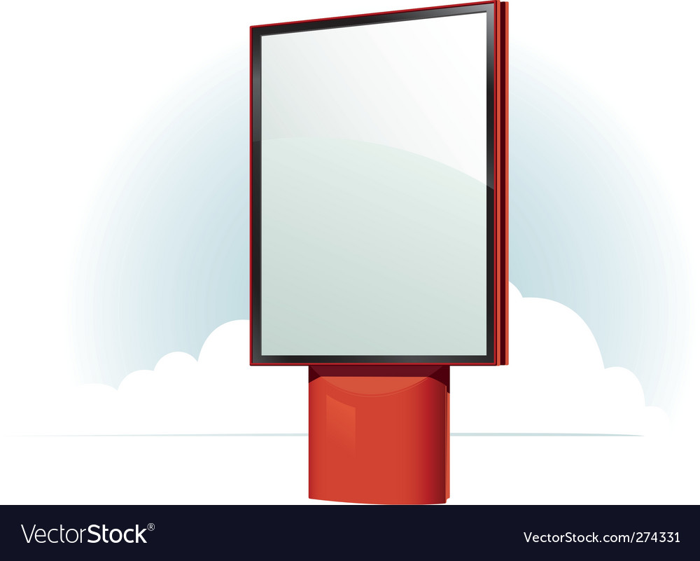 Billboard frame vector | Price: 1 Credit (USD $1)