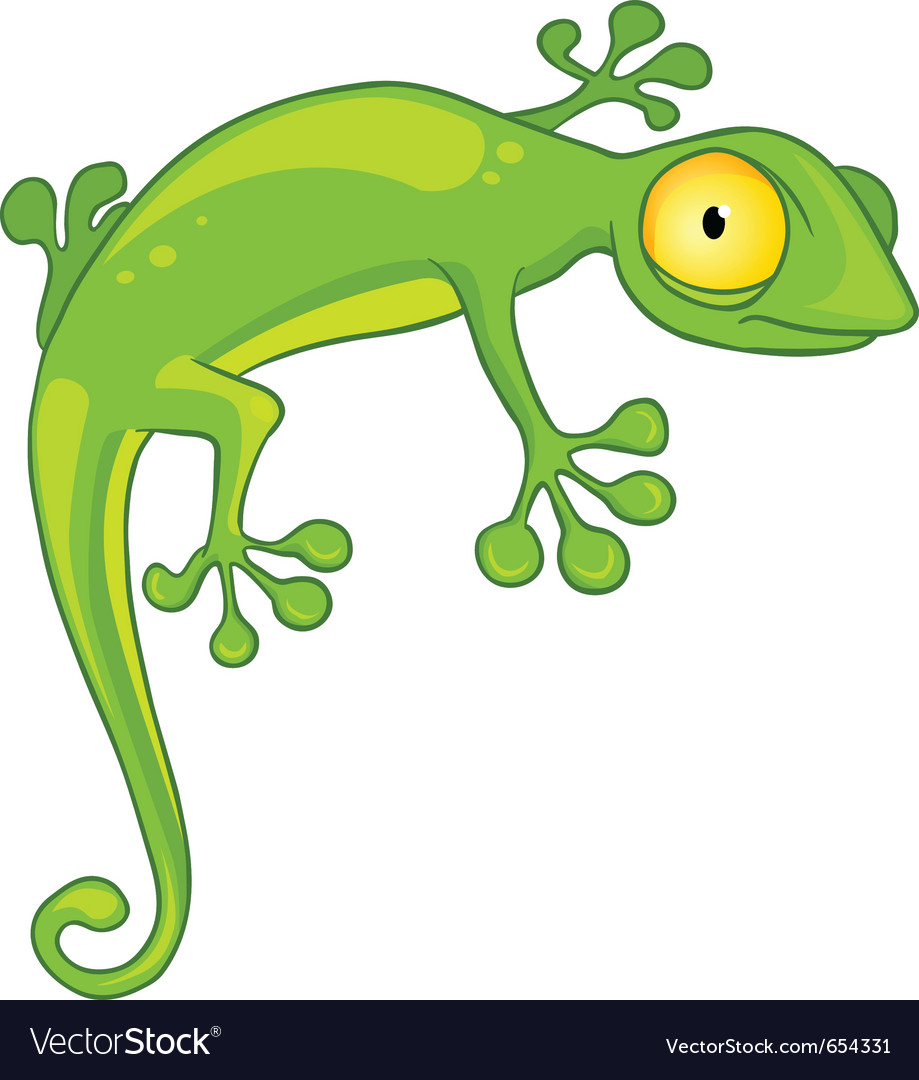 Cartoon character lizard vector | Price: 3 Credit (USD $3)