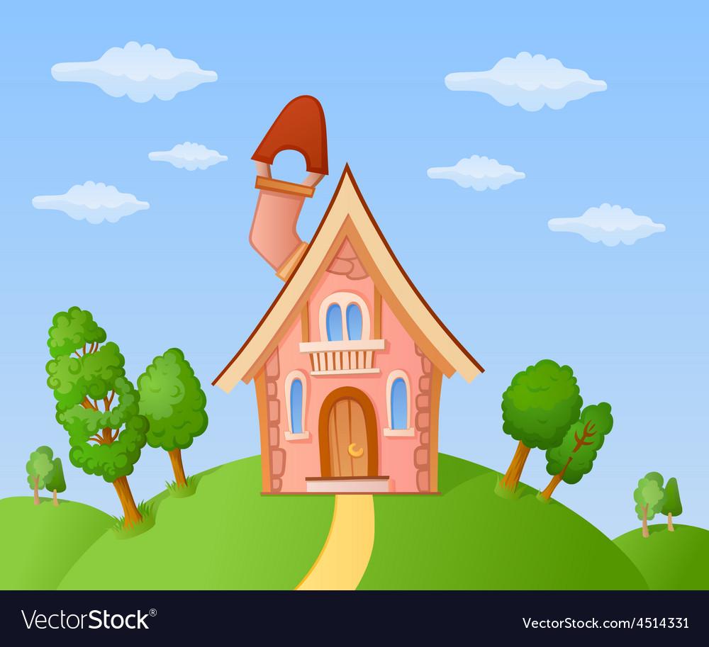 Cartoon house vector | Price: 3 Credit (USD $3)