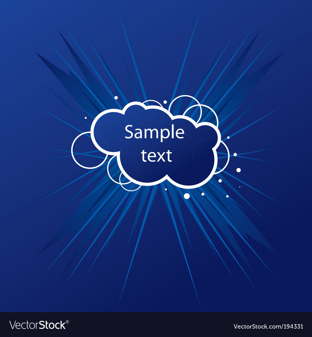 Cloud card vector | Price: 1 Credit (USD $1)