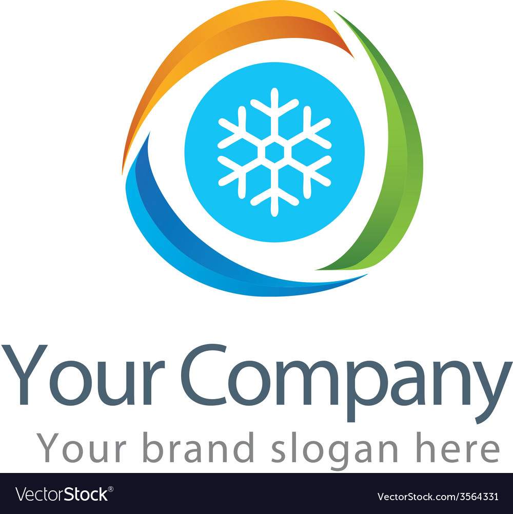 Cooling work logo template vector | Price: 1 Credit (USD $1)
