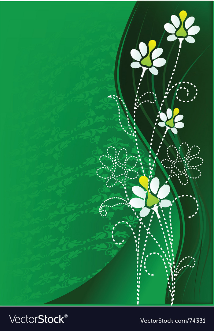 Green flower vector | Price: 1 Credit (USD $1)