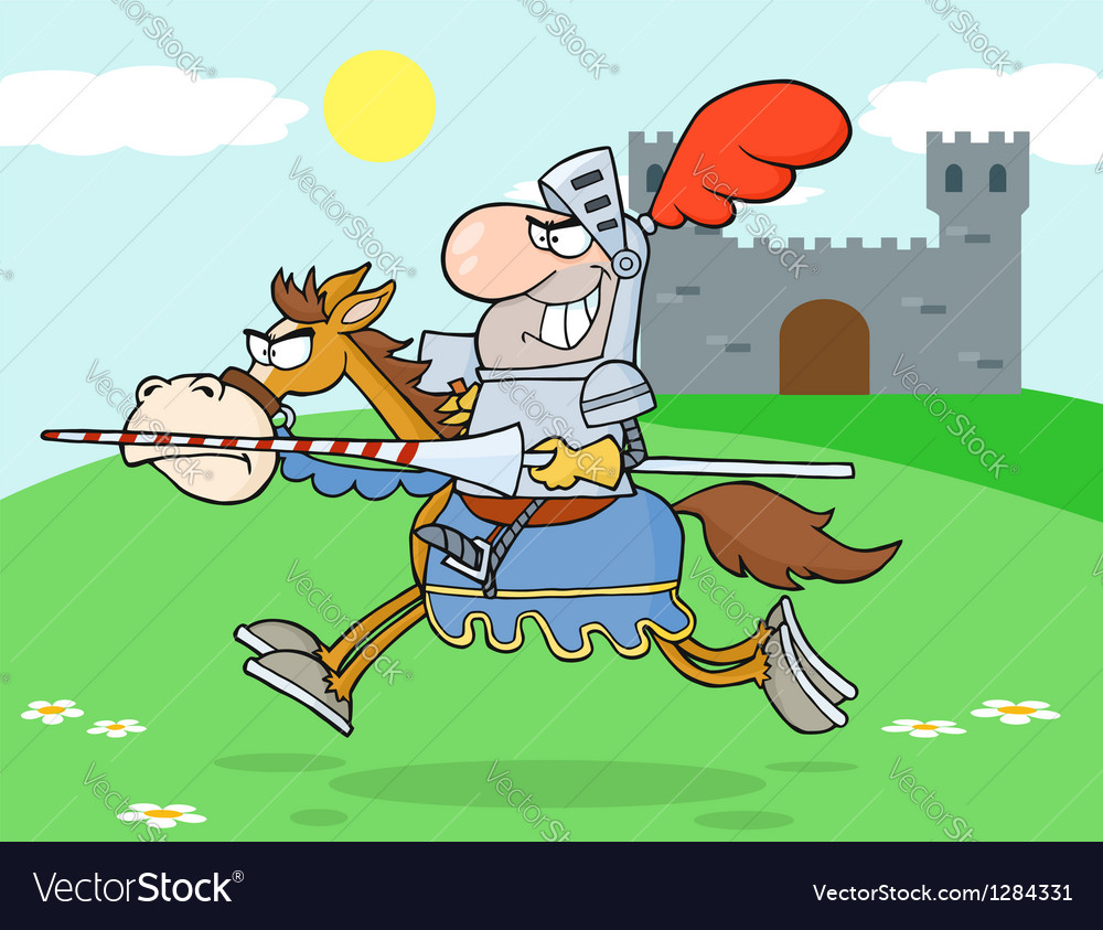 Knight riding horse in the background vector | Price: 1 Credit (USD $1)