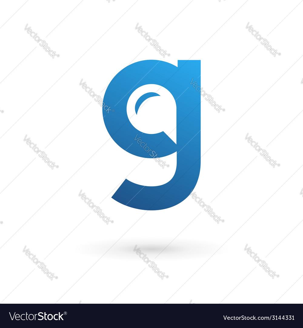 Letter g speech bubble logo icon design template vector | Price: 1 Credit (USD $1)