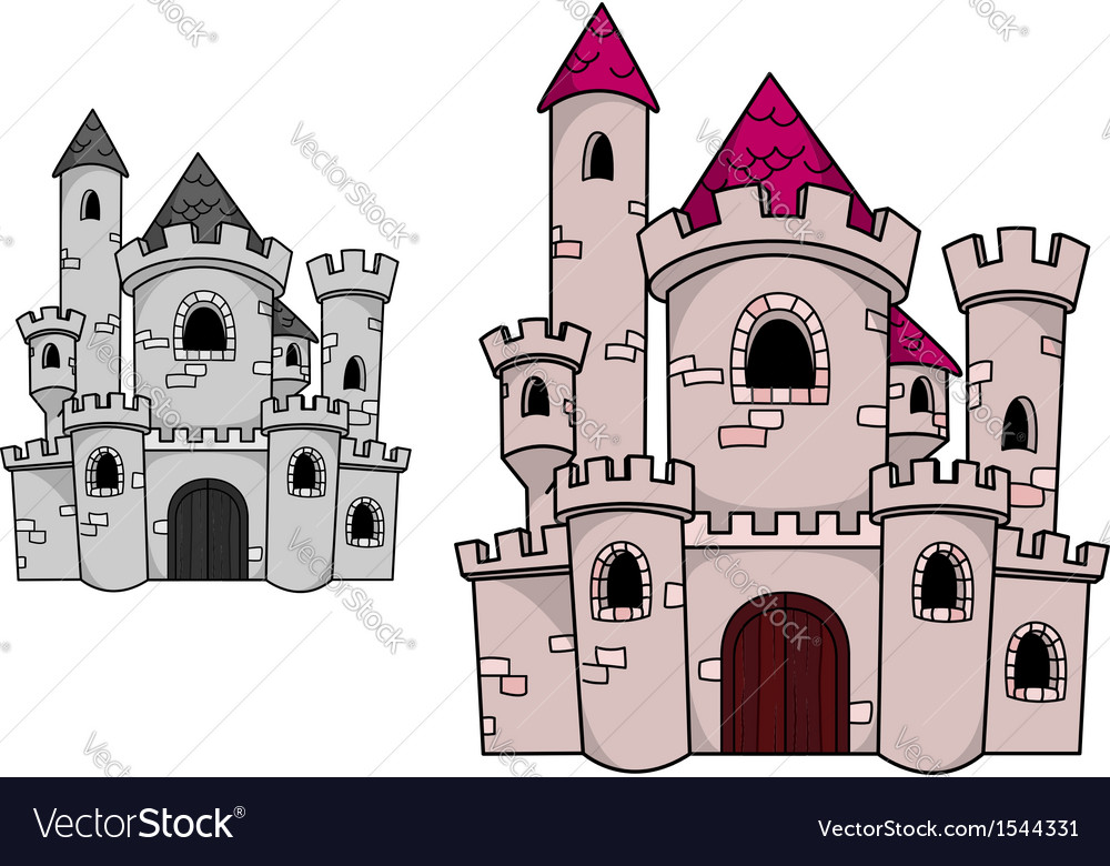 Medieval castle with towers vector | Price: 1 Credit (USD $1)