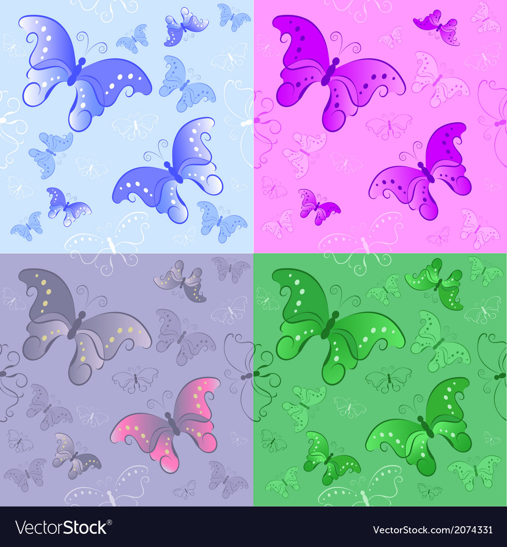 Seamless pattern from butterflies vector | Price: 1 Credit (USD $1)