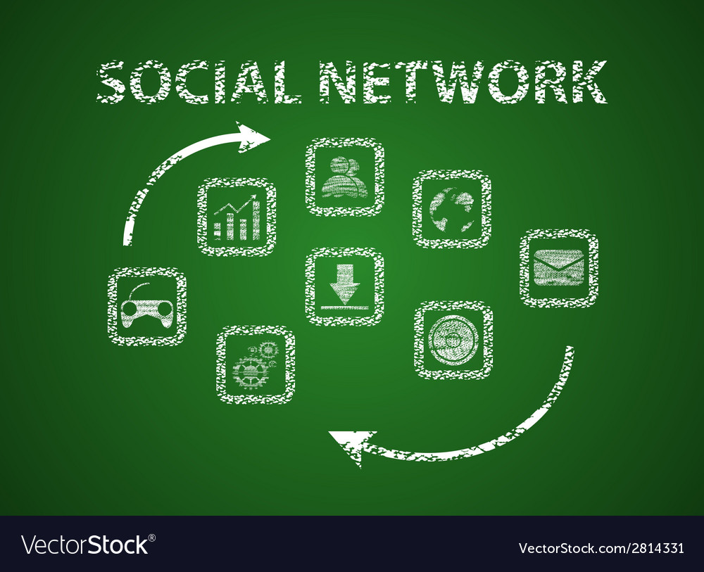 Social network on board vector | Price: 1 Credit (USD $1)