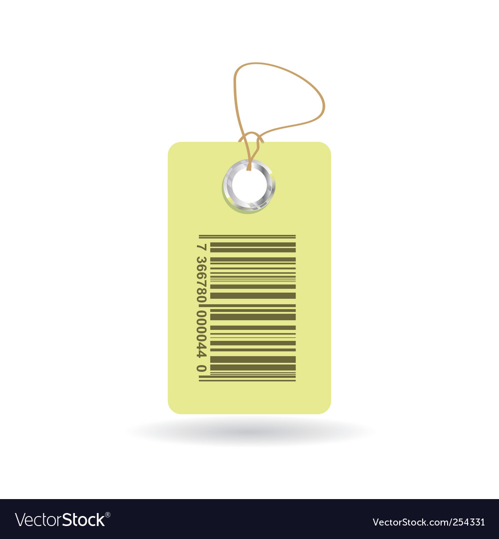 Tag with bar code vector | Price: 1 Credit (USD $1)
