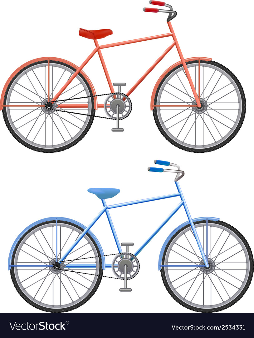 Two bikes vector | Price: 1 Credit (USD $1)
