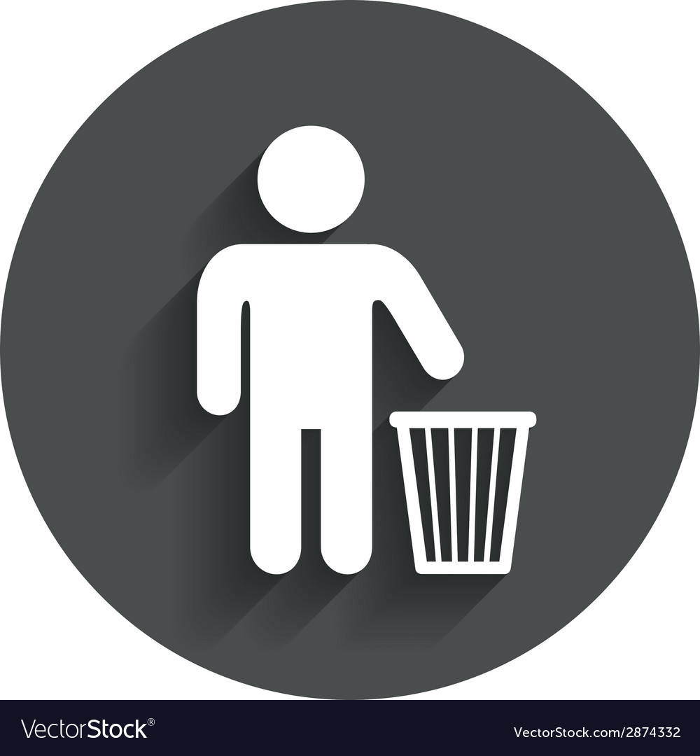 After use to throw in trash recycle bin sign vector | Price: 1 Credit (USD $1)