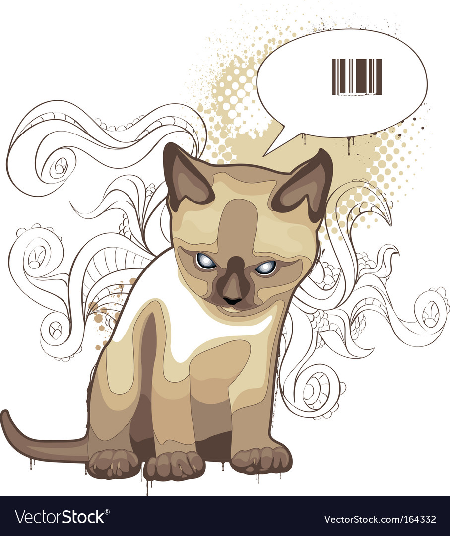 Bizarre cat vector | Price: 1 Credit (USD $1)