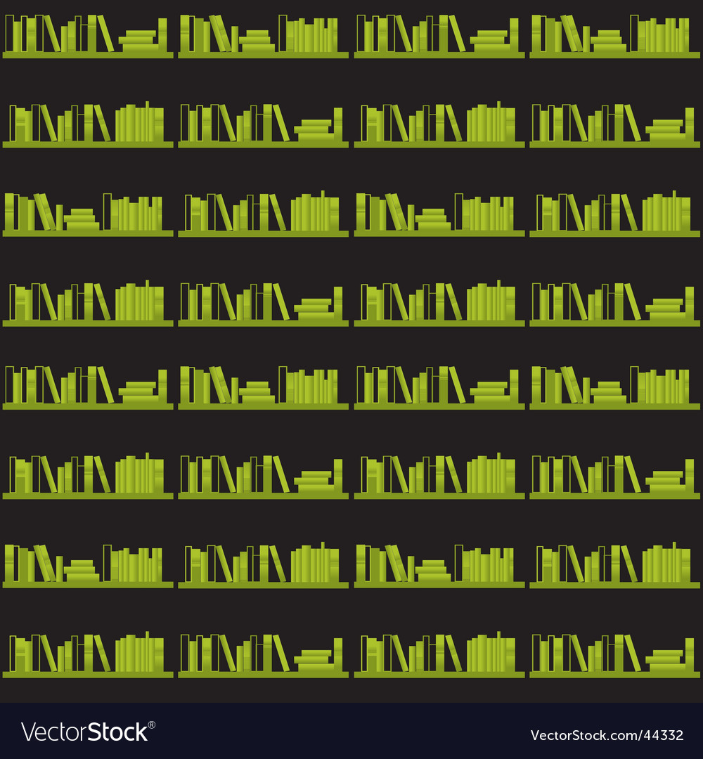 Books on a shelf seamless vector | Price: 1 Credit (USD $1)