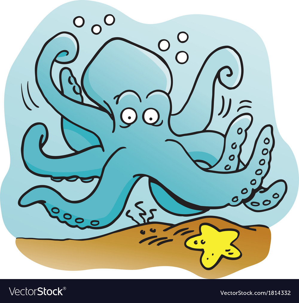 Cartoon octopus vector | Price: 1 Credit (USD $1)