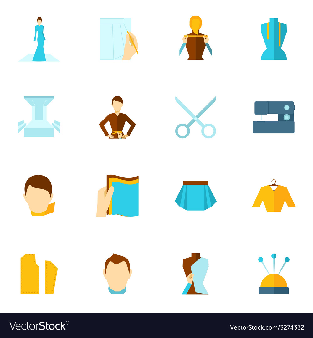 Clothes designer icon flat vector | Price: 1 Credit (USD $1)