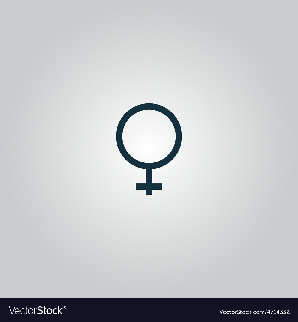 Female sign icon vector | Price: 1 Credit (USD $1)