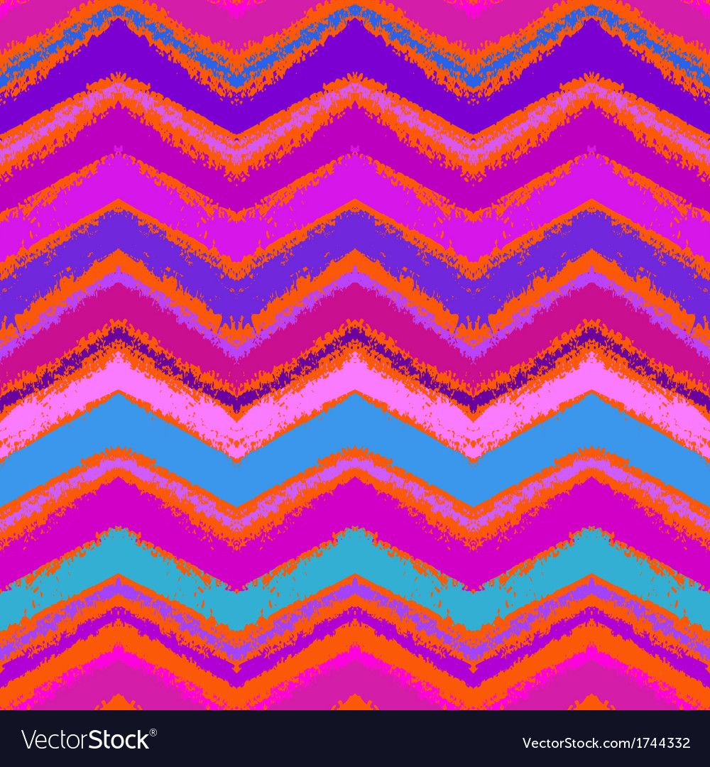 Hand drawn zigzag pattern in bright pink vector | Price: 1 Credit (USD $1)