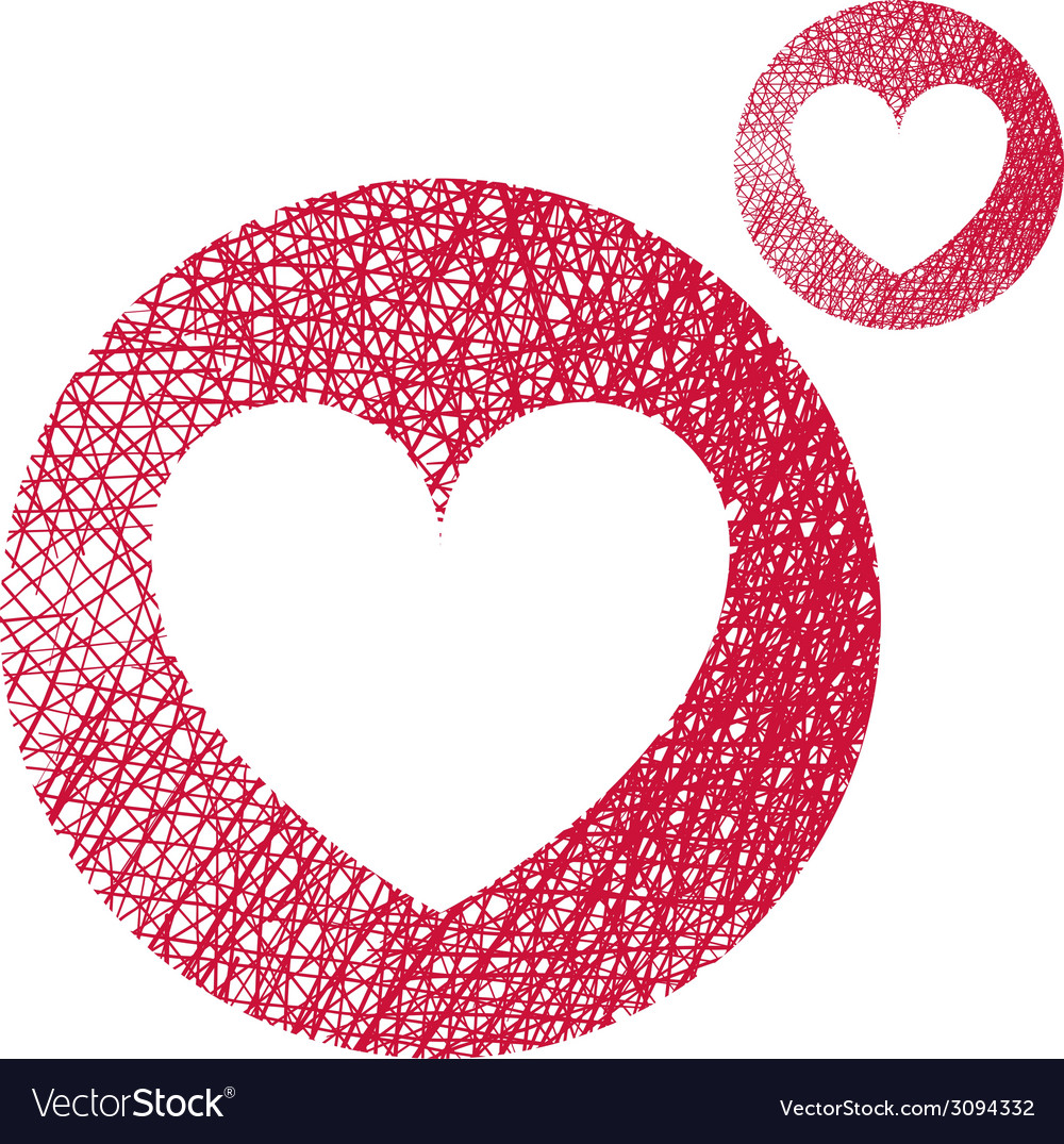 Heart simple single color icon isolated on white vector | Price: 1 Credit (USD $1)