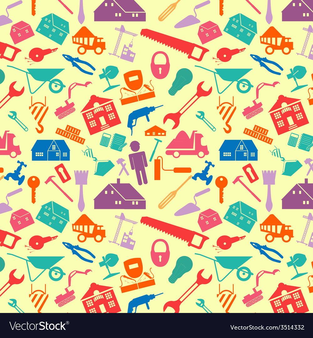 House repair and construction background vector | Price: 1 Credit (USD $1)