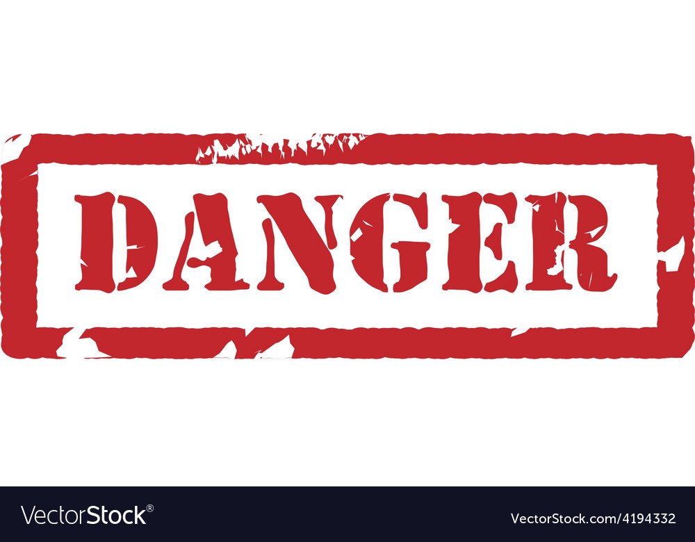Rubber stamp with text danger vector | Price: 3 Credit (USD $3)