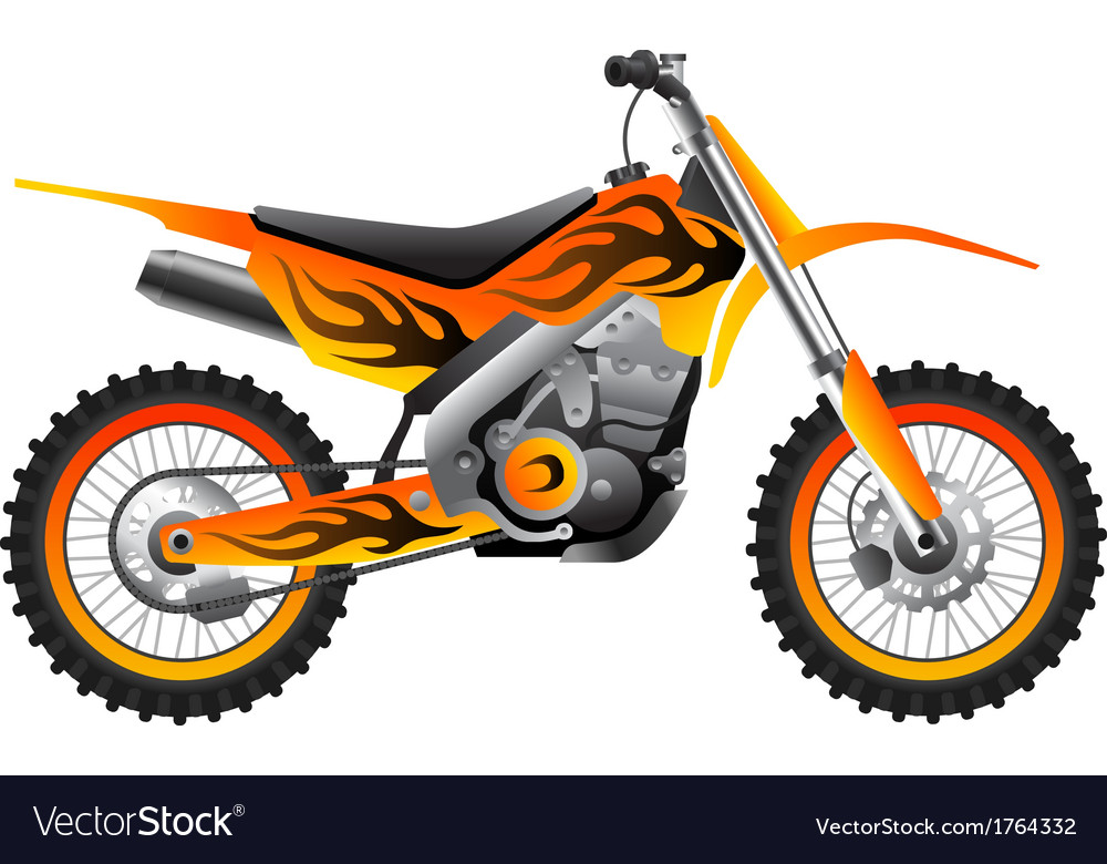 Sport motorcycle with tribal design vector | Price: 1 Credit (USD $1)