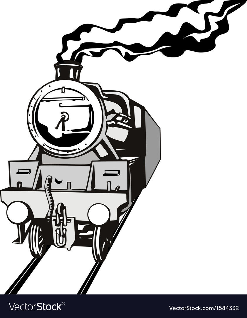 Vintage train retro vector | Price: 1 Credit (USD $1)