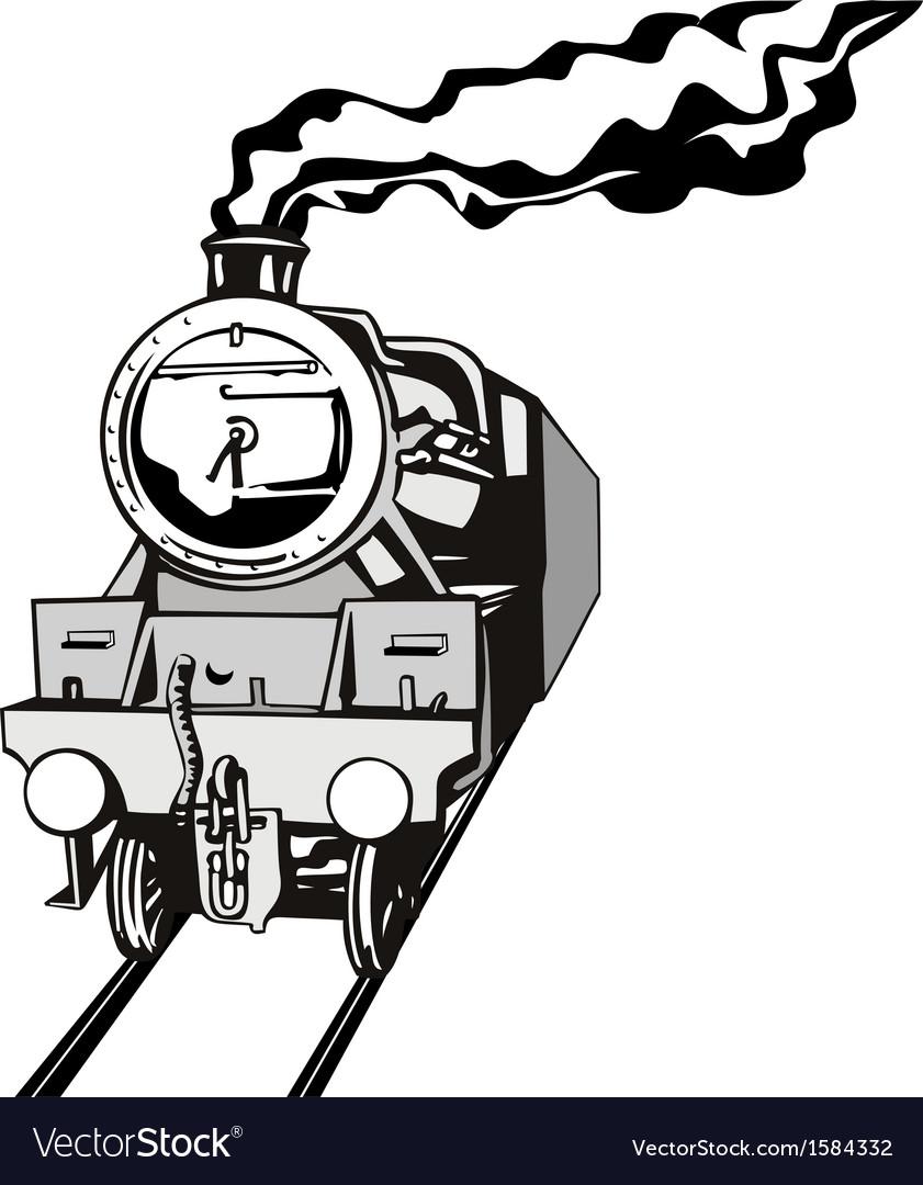 Vintage train retro vector | Price: 1 Credit (USD $1)