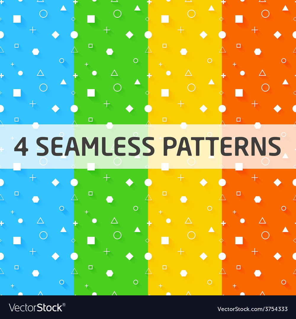 4 seamless geometry patterns vector   Price: 1 Credit (USD $1)