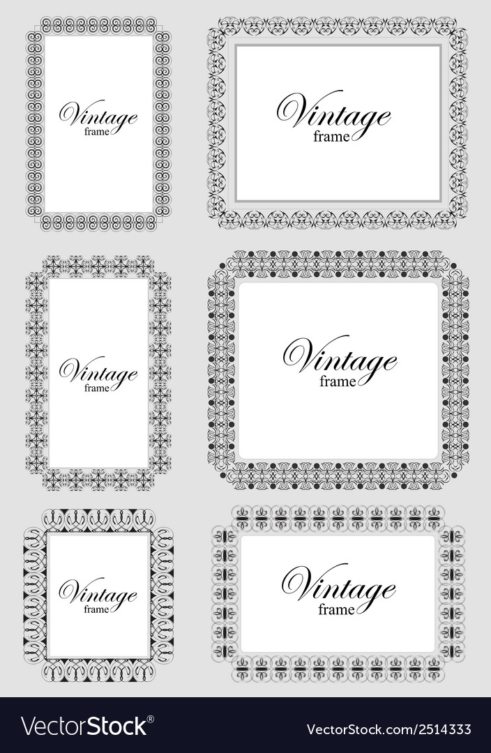 Al 0201 vintage frame vector | Price: 1 Credit (USD $1)