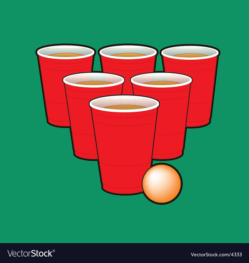 Beer pong vector | Price: 1 Credit (USD $1)
