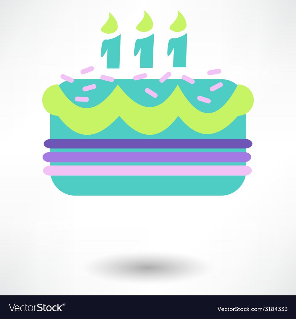 Birthday cake web icon vector | Price: 1 Credit (USD $1)