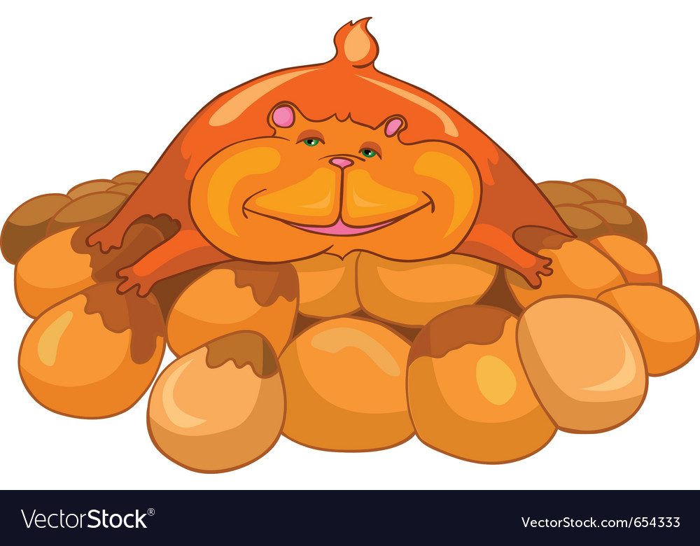 Cartoon character hamster vector | Price: 3 Credit (USD $3)