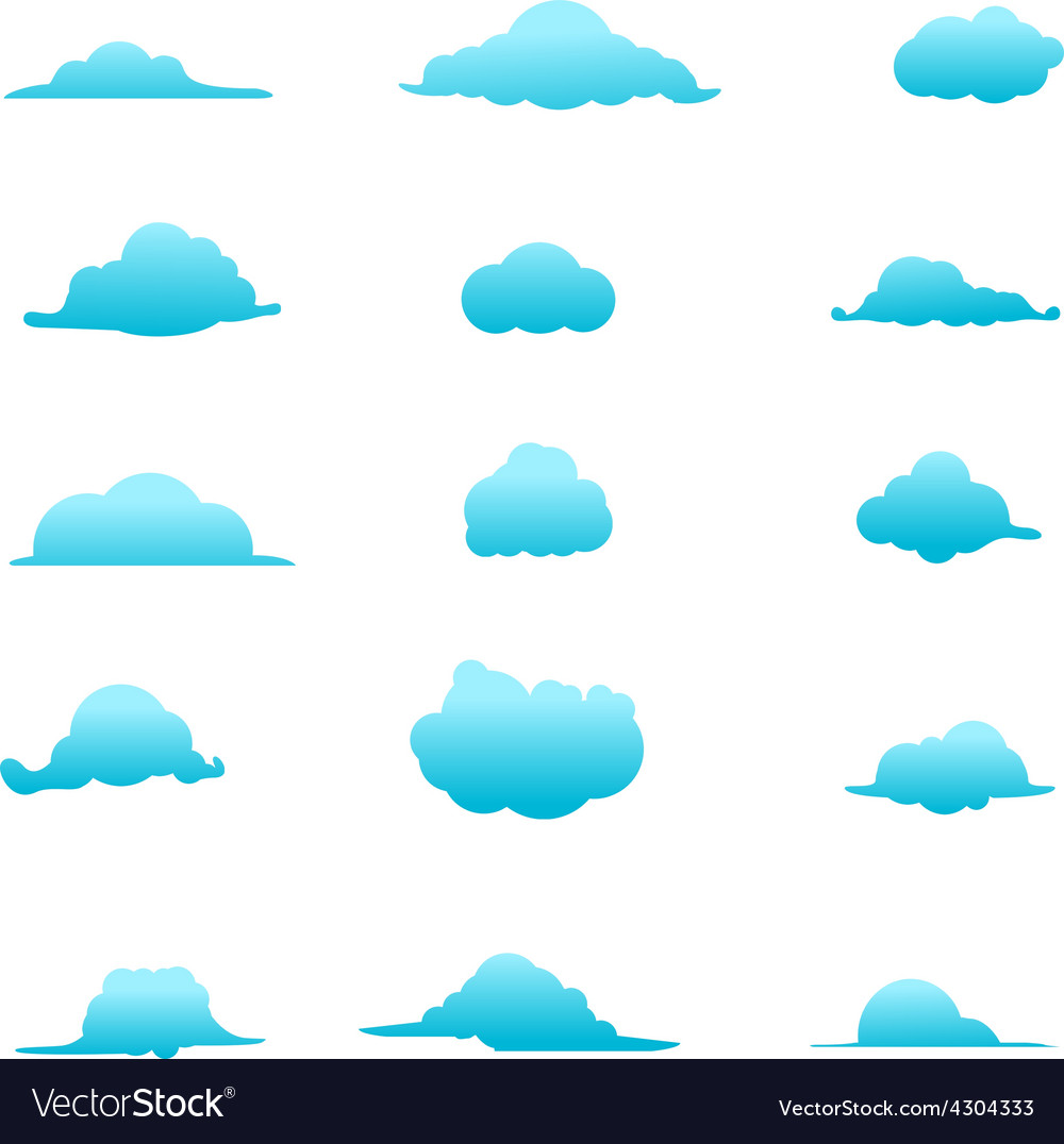Cloud collection 6 vector | Price: 1 Credit (USD $1)