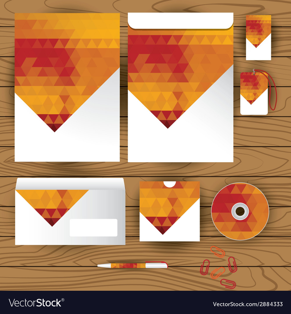 Corporate identity triangle pattern design vector | Price: 1 Credit (USD $1)