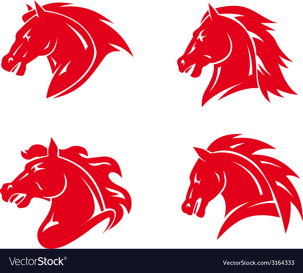 Horse tattoos vector | Price: 1 Credit (USD $1)