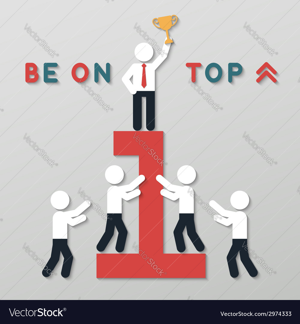 Idea leadership business concept vector | Price: 1 Credit (USD $1)