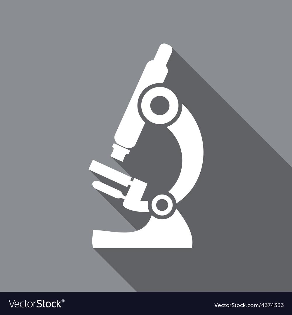 Microscope flat icon vector | Price: 1 Credit (USD $1)