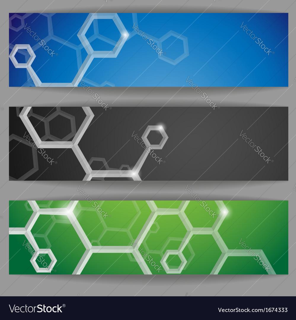 Molecule abstract banner vector | Price: 1 Credit (USD $1)