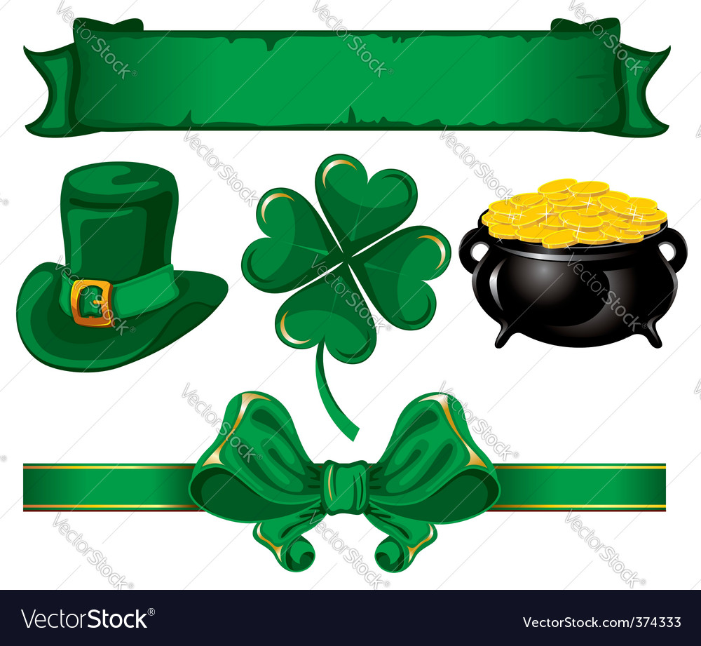 Set to st patrick's day vector | Price: 3 Credit (USD $3)