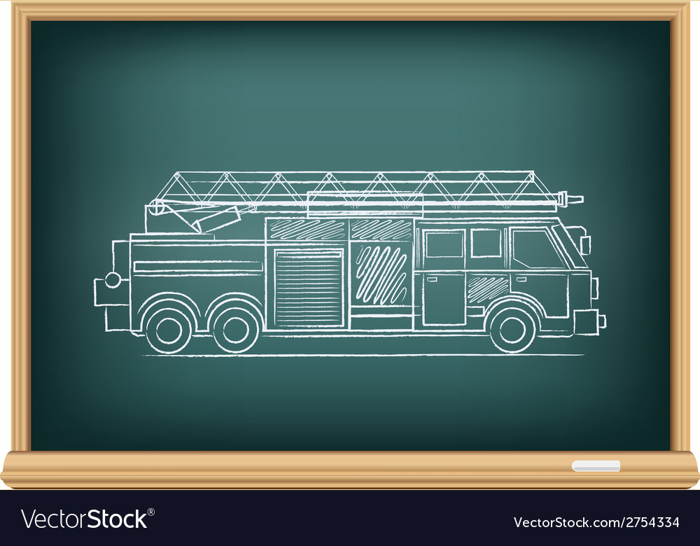 Board fire truck vector | Price: 1 Credit (USD $1)