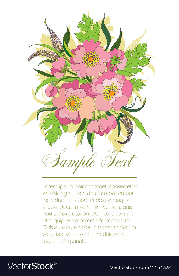 Bouquet of summer flowers vector | Price: 1 Credit (USD $1)