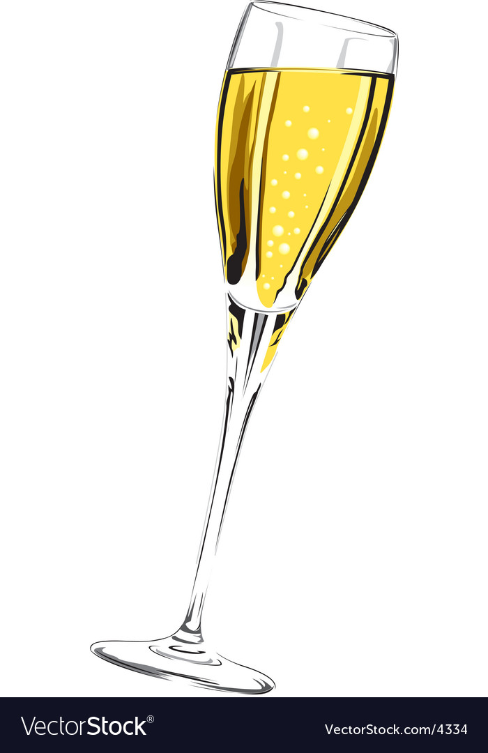 Champagne glass vector | Price: 3 Credit (USD $3)