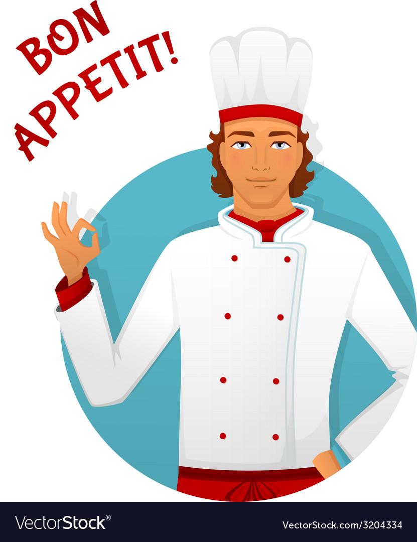 Male chef in uniform vector | Price: 1 Credit (USD $1)