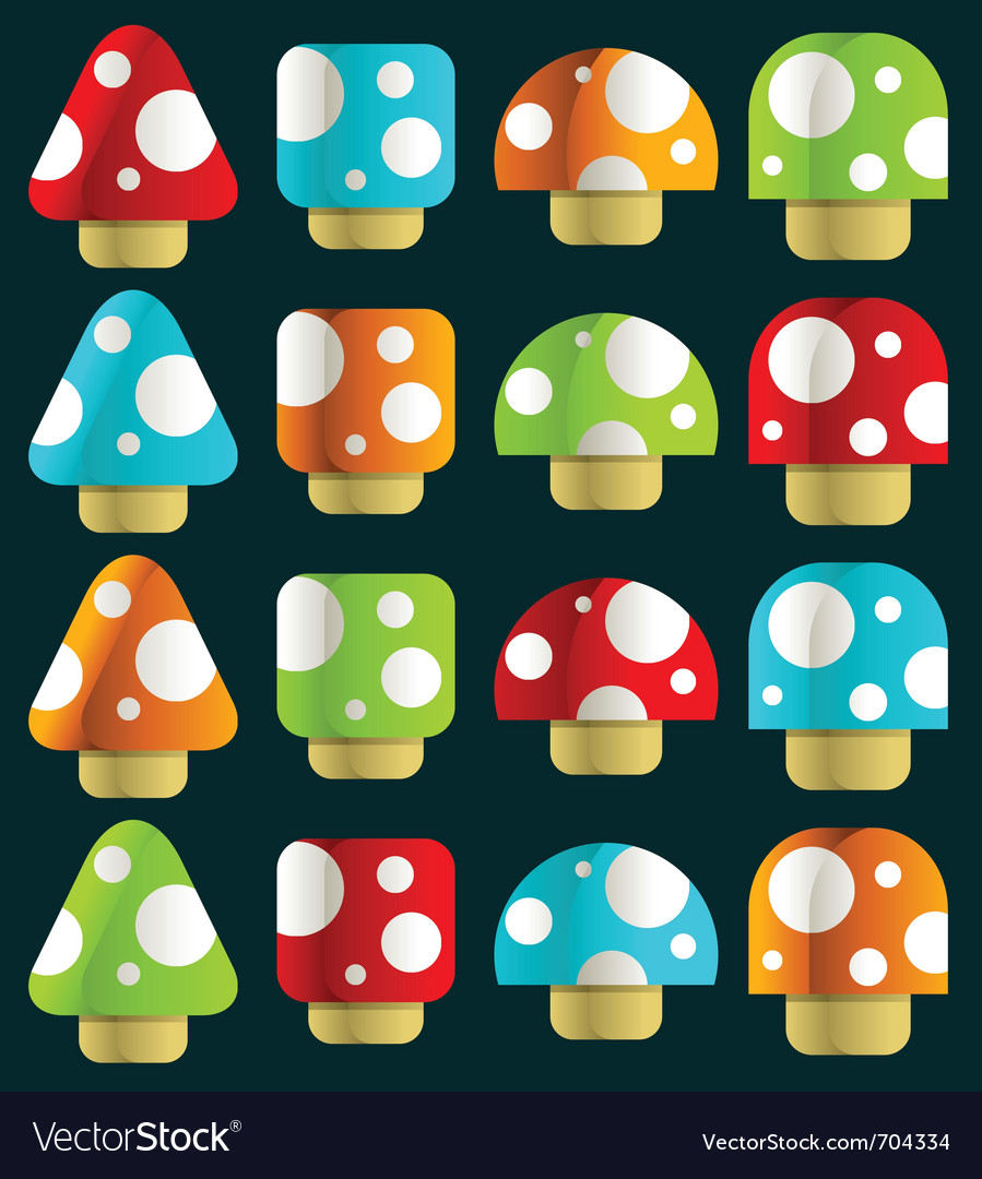 Mini magic mushrooms vector | Price: 1 Credit (USD $1)