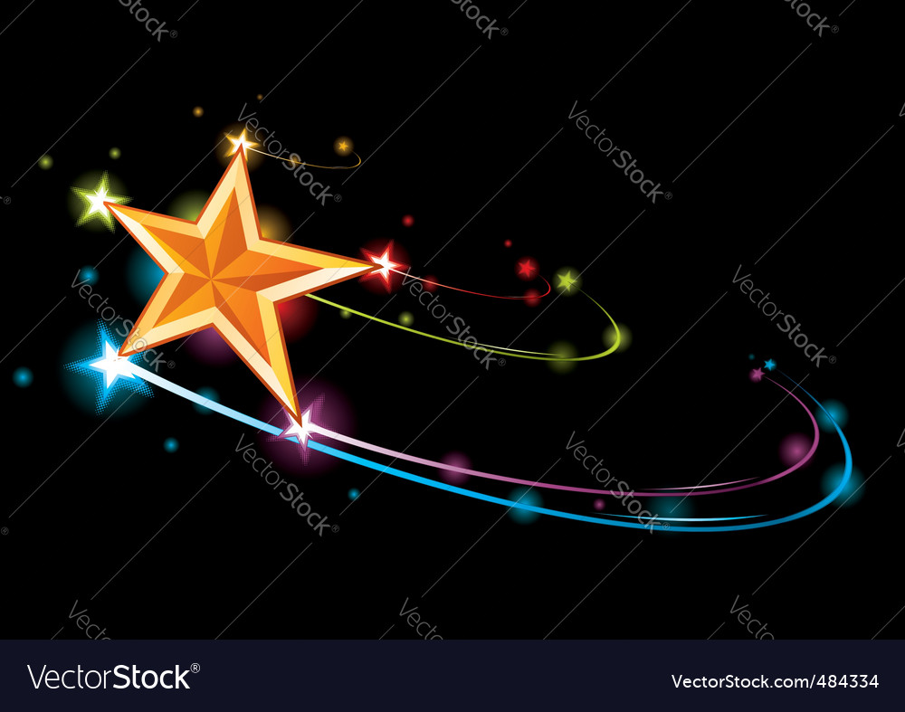 Rainbow star vector | Price: 1 Credit (USD $1)