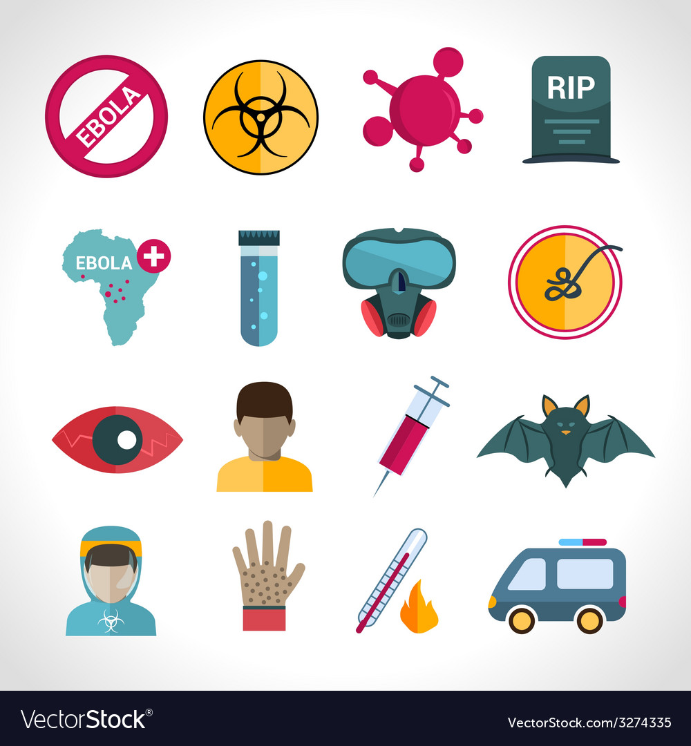 Ebola virus icons vector | Price: 1 Credit (USD $1)